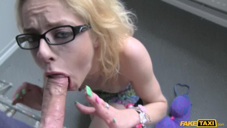 Thin Petite Blonde Takes Big Dick
