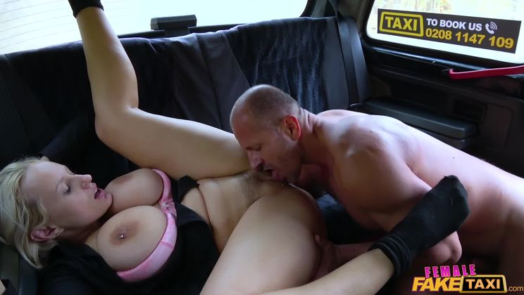 Busty curvy squirting blonde driver
