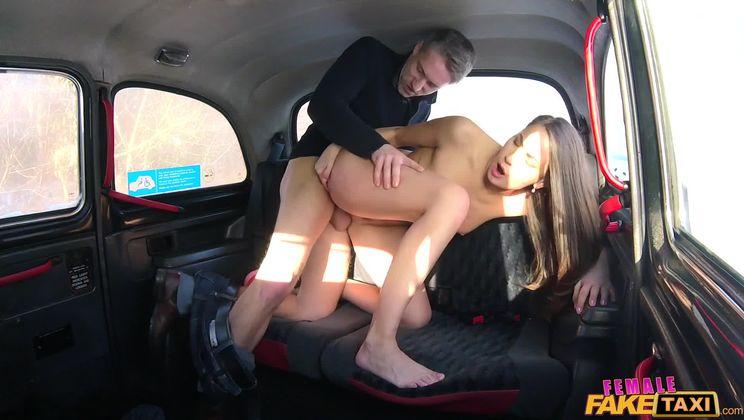 Sexy Driver Fucks Fare to Get Even
