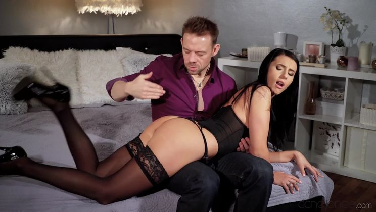 Anal sex after naughty spanking